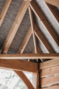 Roof wooden beams