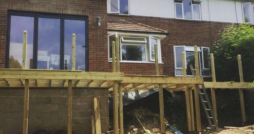 A photo of a home extension from the outside