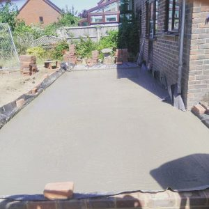Image of the finished concrete base for the Odiham project