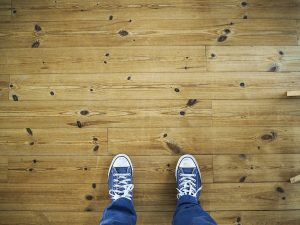 Someone looking at flooring chosen with the help of construction companies in Hampshire