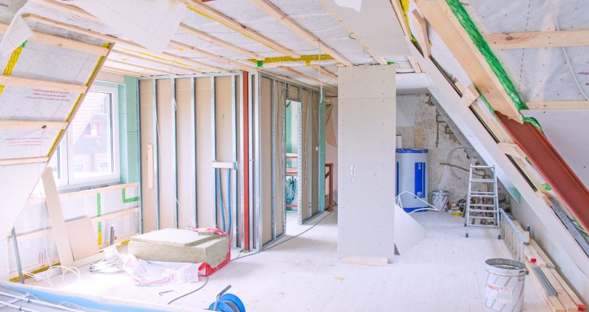 A photo of a home renovation, as would be completed by builders in Guildford.
