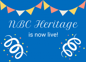 NBC Heritage is now live promotional banner.
