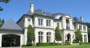 Large two storey home with a grand exterior