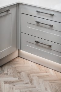 Grey Kitchen cupboards