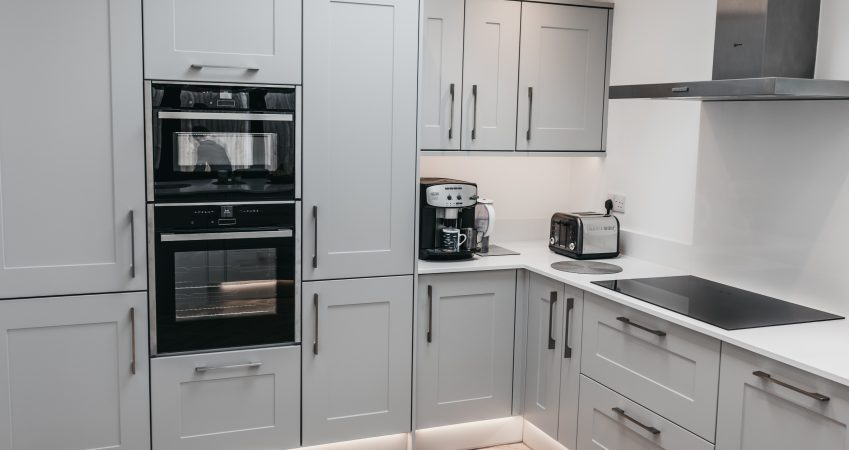 Grey Kitchen- construction company Surrey