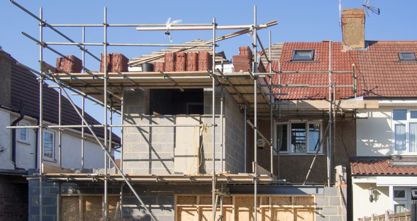 home extension with builders in surrey